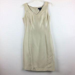 Ann Taylor Silk Dress Sz 4 Champagne